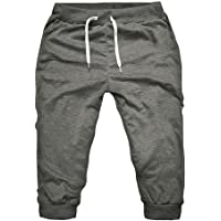 Minikimi Korte broek voor heren, voor de zomer, slim fit, sweatshorts, modieus, fitness, stretch, joggen en training