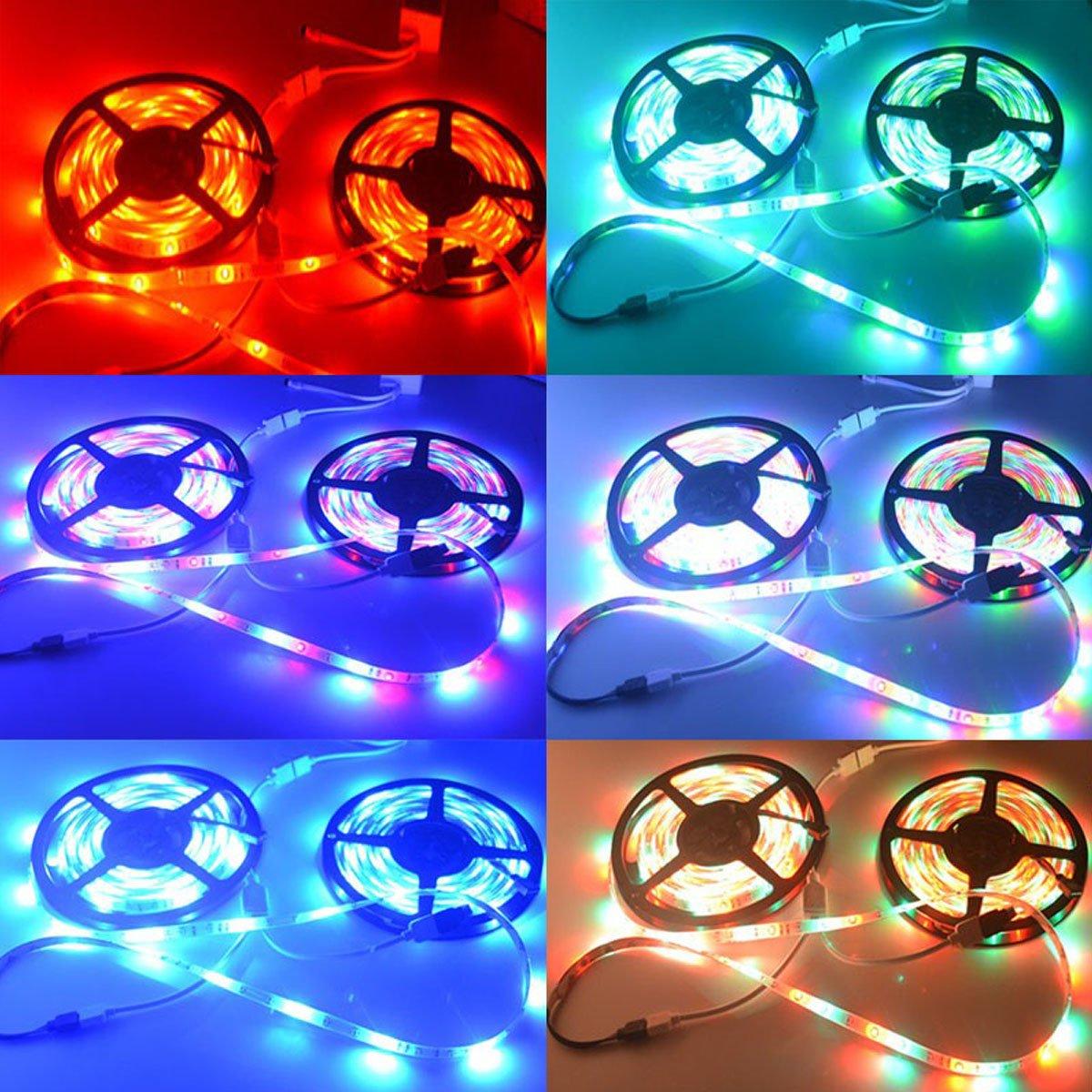 LightInTheBox 20M(45M) 5050 RGB 600 LEDs Flexible Strip Lights Not Waterproof DC 12V 600LEDs with 44Key IR Remote Controller Kit