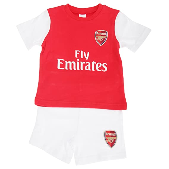 new product 8ab90 3cf85 Arsenal FC Official Baby Football Crest T-Shirt & Shorts Set