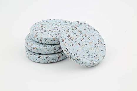 Amazon com | Blue Terrazzo Coasters Set of 4: Coasters