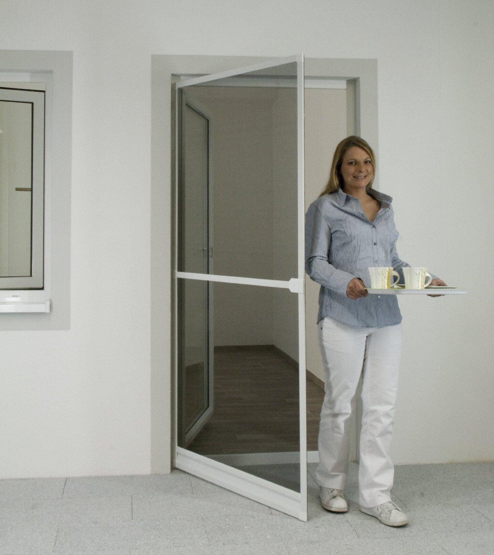 Insektenschutz Alu Rahmen System Profi für Türen 100 x 215cm weiß ...
