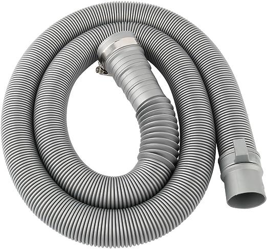 uxcell 4.7 Ft PVC Tubería de agua residuos tubo conector lavadora ...