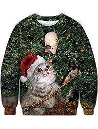 URVIP Unisex Halloween Christmas 3D-Print Athletic Fashion Hoodies Sweatshirts