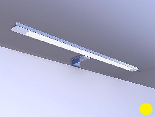 3 opinioni per Lampada a LED per specchio bagno, finitura cromata, luce bianca calda, 12 W, 230