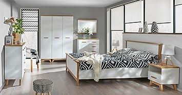 Schlafzimmer Komplett   Set B Panduros, 7 Teilig, Farbe: Kiefer Weiß /