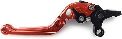 Orange//Noir Paire de leviers ajustables et repliables en aluminium anodis/é pour Aprilia RS 125 1995-2005