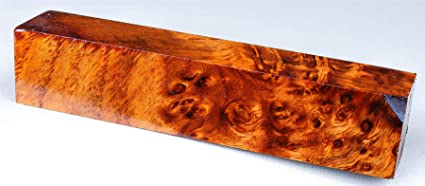 online for sale meet a few days away Stabilized Amboyna Burl Jumbo Pen Blank, Turning Wood, 1