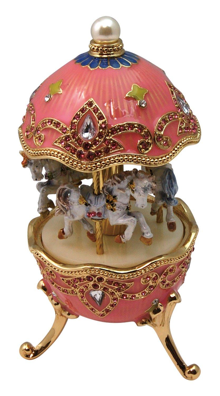 日本電産サンキョー ピューターオルゴール メリーゴーランド03 ピンク YA715B 星に願いを YA715B B06XW3JG28