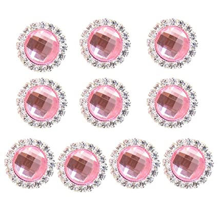 Image Unavailable. Image not available for. Color  MagiDeal 10 Pieces 18mm  Decorative Acrylic Rhinestones Flatback Diamond Buttons DIY Wedding Craft  ... 2626aed06b49