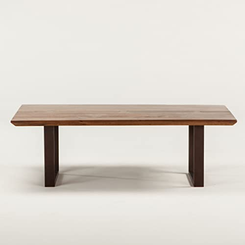 World Interiors Mapai Acacia Wood Coffee Table, 52 , Walnut