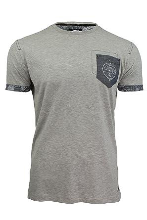 Firetrap Crew Neck Tee Pitchard Plain Cotton T-Shirt Grey Marl   Amazon.co.uk  Clothing 10778664f15