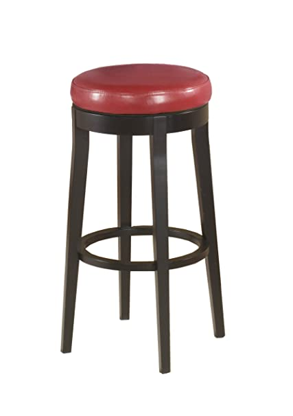 Stupendous Armen Living Lc450Bare26 Mbs 450 26 Counter Height Swivel Barstool In Red Bonded Leather And Black Wood Finish Gmtry Best Dining Table And Chair Ideas Images Gmtryco