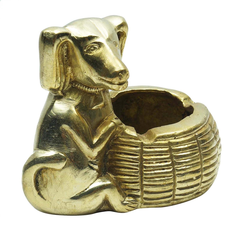 アンティークコレクター品犬灰皿彫刻ブロンズ像ハンドメイドホーム装飾 B0725CHZVX