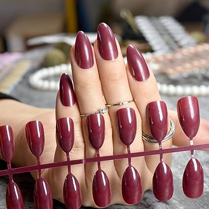 Almond Design P83P - Adhesivo para uñas postizas (tamaño mediano, con pegamento),