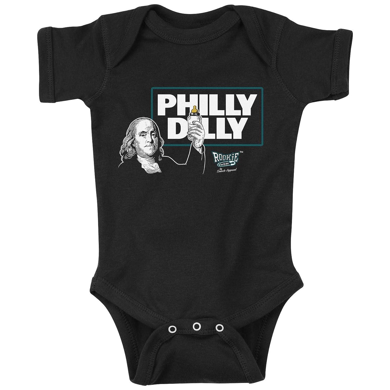 Smack Apparel ルーキーウェア フィラデルフィア フットボールファン Philly Dilly 黒ワンジー&幼児用Tシャツ(NB-4T)  NB