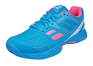 Babolat Pulsion BPM Clay Padel Womens Tennis Sneakers/Shoes-Blue-5.5