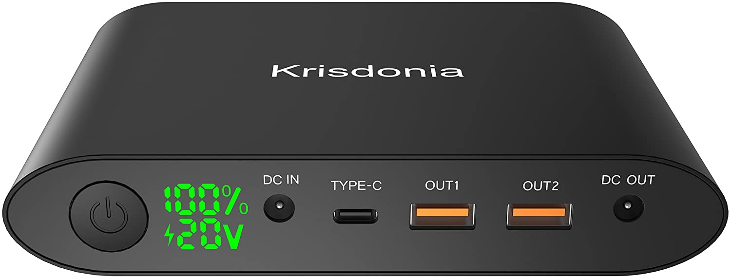 Krisdonia Portable Laptop Charger ( TSA-Approved ) 92.5Wh/25000mAh Travel Laptop Power Bank External Battery Pack for Laptop, Smartphone, Camera and More