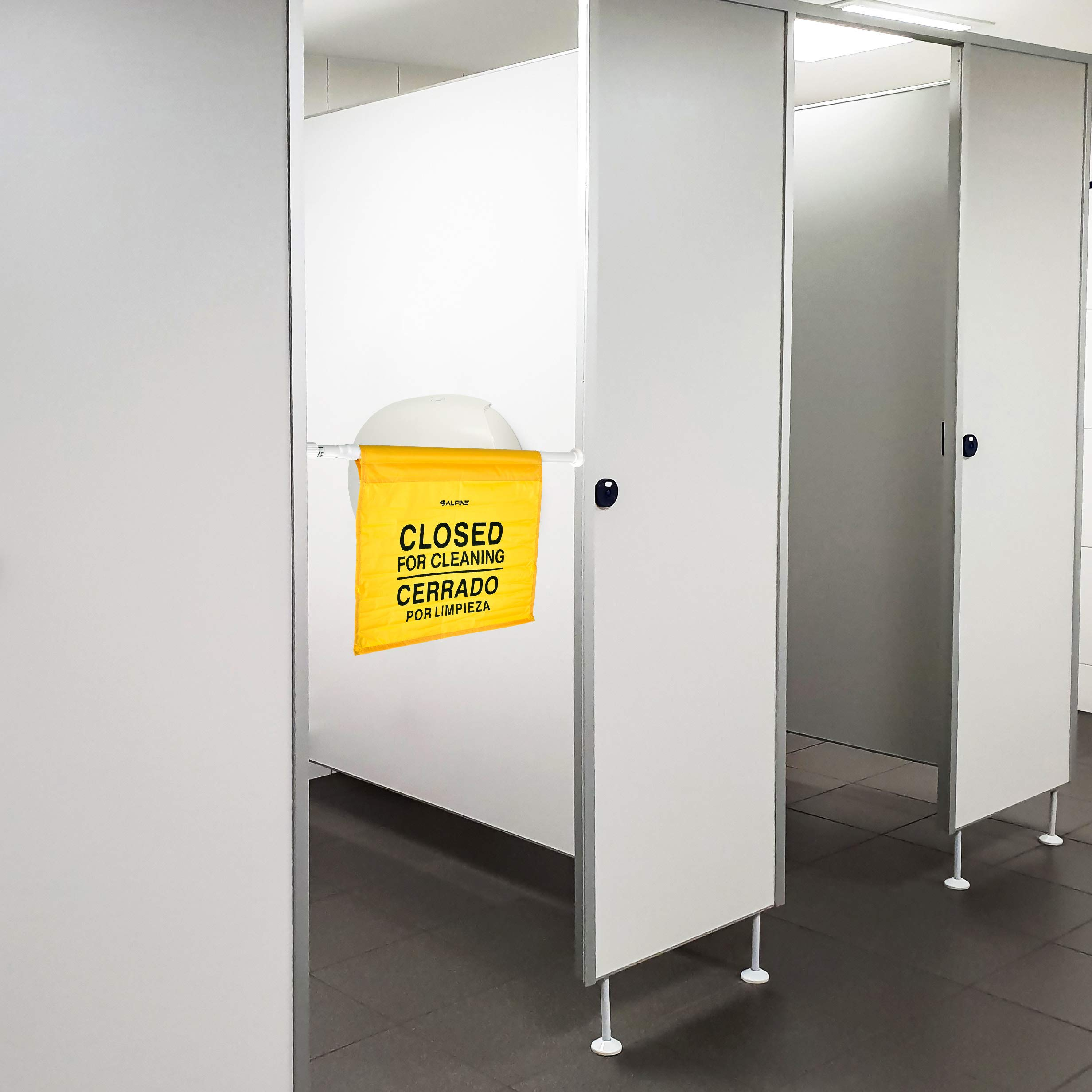 """Alpine Industries """"Closed for Cleaning"""" Hanging Safety Sign - Heavy Duty Warning Precaution - for Establishments and Commercial Use by Alpine Industries (Image #7)"""