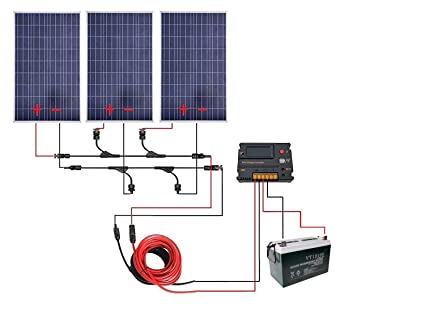 ECO-WORTHY 300 Watt 12V Off Grid Solar Panels Kits : 3pcs 100W Poly Solar  Panel + 20A LCD Charge Controller +12V 100Ah AGM Deep Cycle Battery for 12