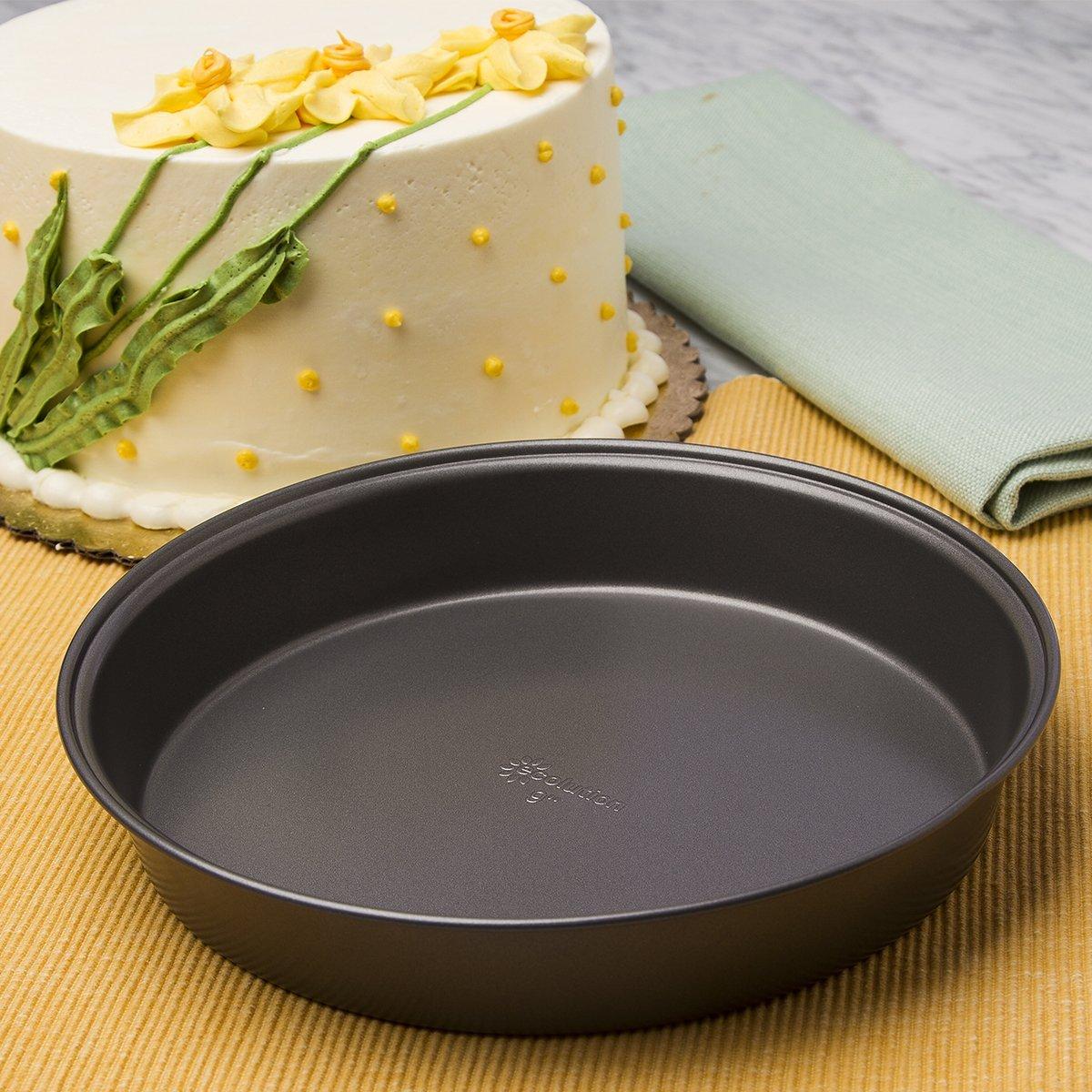 "8/"" Ecolution Bakeins 3 Piece Springform Pan Set 9/"" and 10/"" Set Gray"