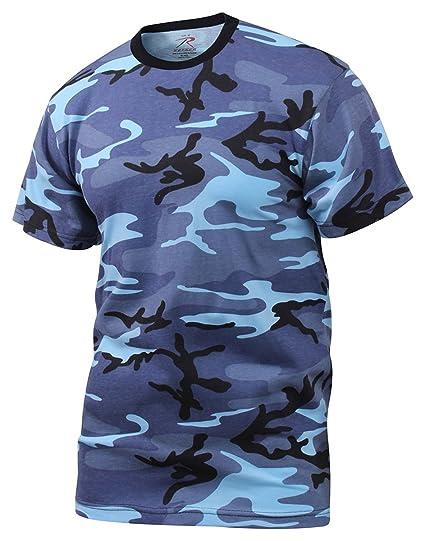 f3e14f8a0ee99 Amazon.com: Rothco T-Shirt/Sky Blue Camo: Sports & Outdoors