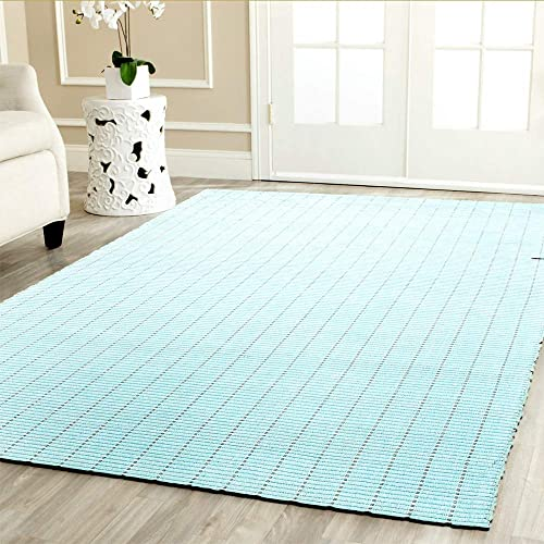 LR Resources Kessler LR81214-SPA6090 Spa Blue Rectangle 6 X 9 ft Indoor Area Rug, 6 x 9 ,