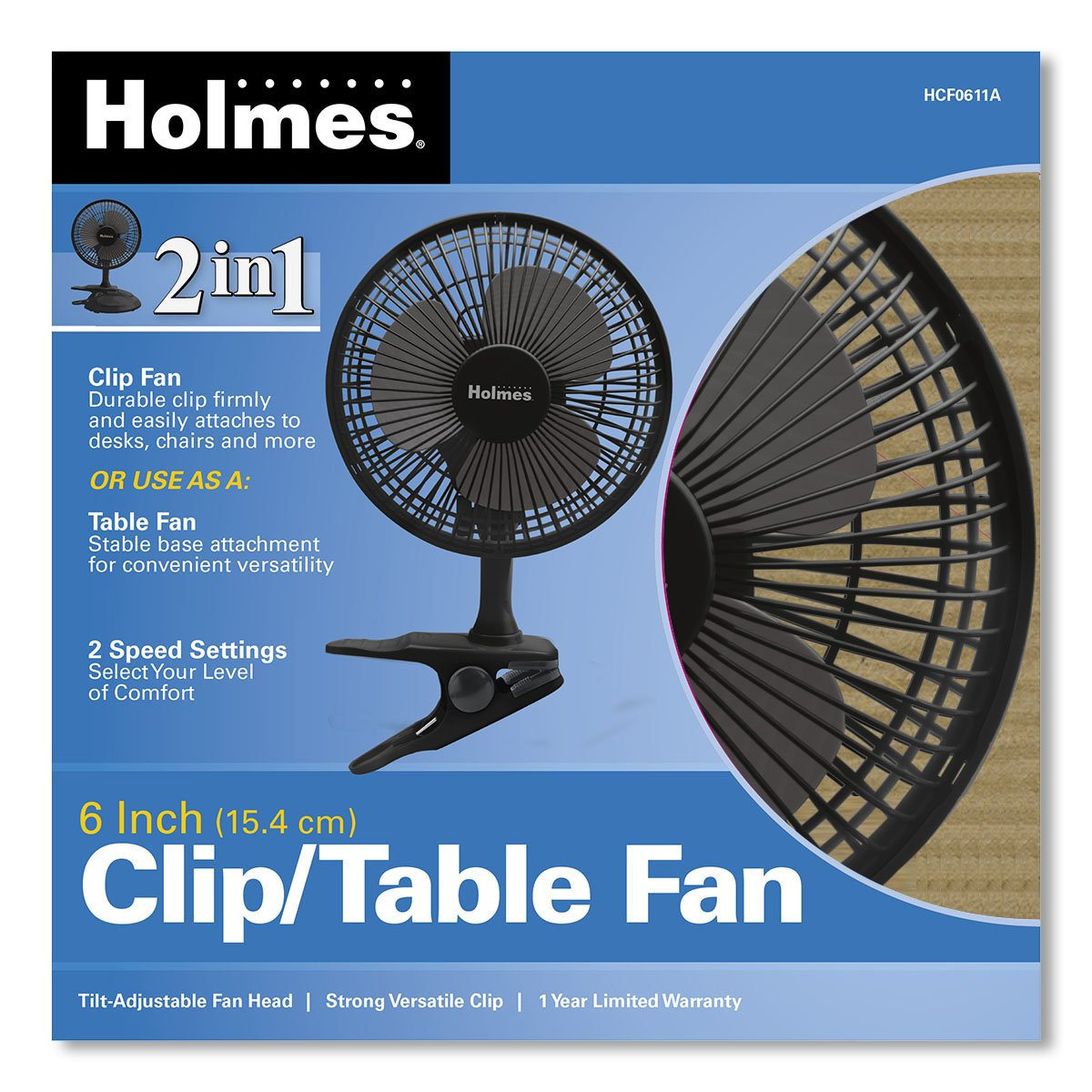 Amazon.com: Holmes Convertible Desk U0026 Clip Fan, Black HCF0611A BM: Home U0026  Kitchen