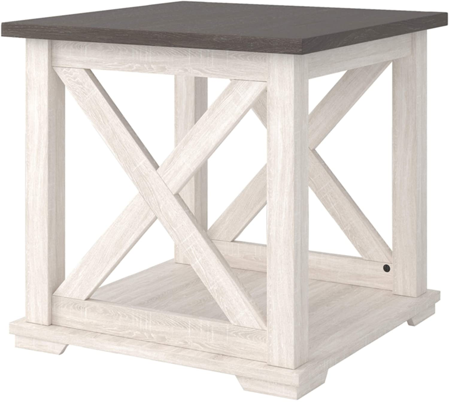 Signature Design by Ashley Dorrinson End Table, White/Brown