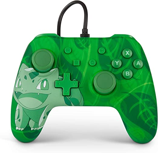 PowerA Mando con cable para Nintendo Switch: Pokémon – Bulbasaur ...