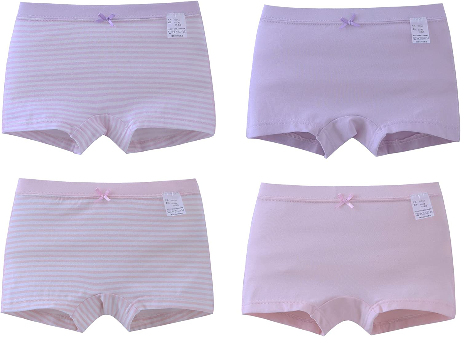 ABClothing Girls Cotton Underwear Assort Colors Pack of 4