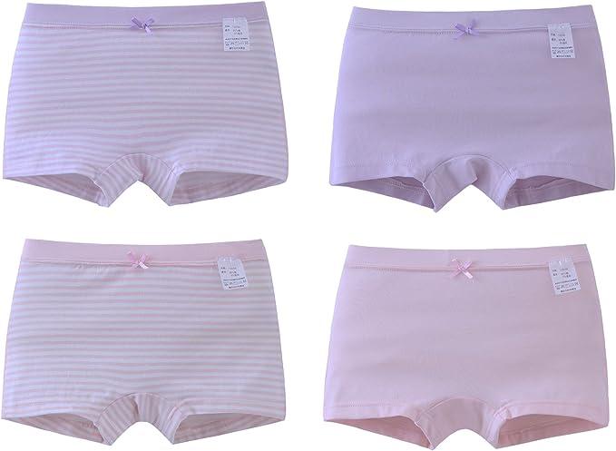 Pack de 4 Piezas de Ropa Interior para niñas pequeñas de algodón Suave Recortar Boyshorts Multicolor: Amazon.es: Ropa y accesorios