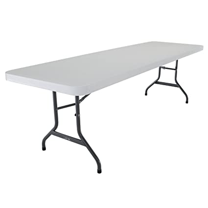 lifetime round tables white folding plastic table granite