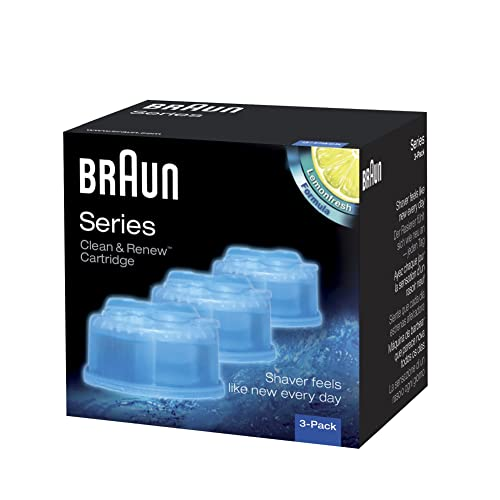 Braun Series 3 5 7 CCR3 Shaver Clean and Renew Refills CONTAINS 3-Pack