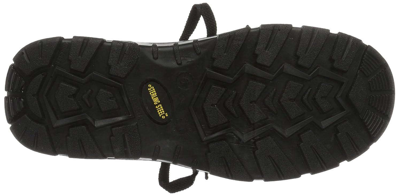 Wide 4 UK Sterling Unisex-Adult SS400SM Safety Boots Black 38 EU