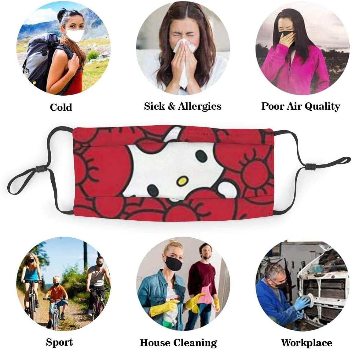 Naruto Xiao Mundschutz mit Filter Unisex Anti-Staub waschbar Wiederverwendbarer Mundschutz f/ür Kinder Jugendliche Erwachsene 6.9 x 5.1 Zoll