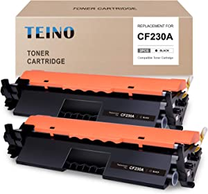 TEINO Compatible Toner Cartridge Replacement for HP 30A CF230A use with HP Laserjet Pro MFP M227fdw M227fdn M227sdn Laserjet Pro M203dw M203dn M203d (Black, 2-Pack)