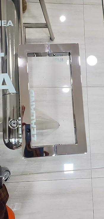 """Pull Handle Back to Back Frameless Shower Glass Door 8/"""" CHROME"""