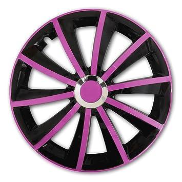 (Color y Tamaño a Elegir) 15 pulgadas tapacubos gralo Rosa apto para casi todos los tipos de vehículos - Universal: Amazon.es: Coche y moto