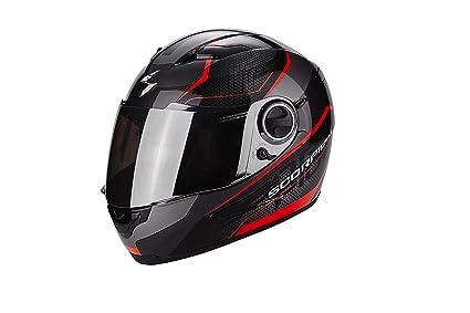 Scorpion Casco Moto exo-490 Vision, Black/Neon Red, XS