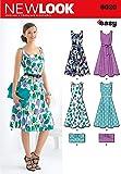 New Look 6020 - Patrones de costura para vestidos y bolsos de mujer (tallas 36 a 46)