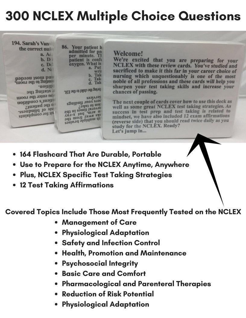 NCLEX Flashcards Study Kit 300 Question Flash Card Nursing
