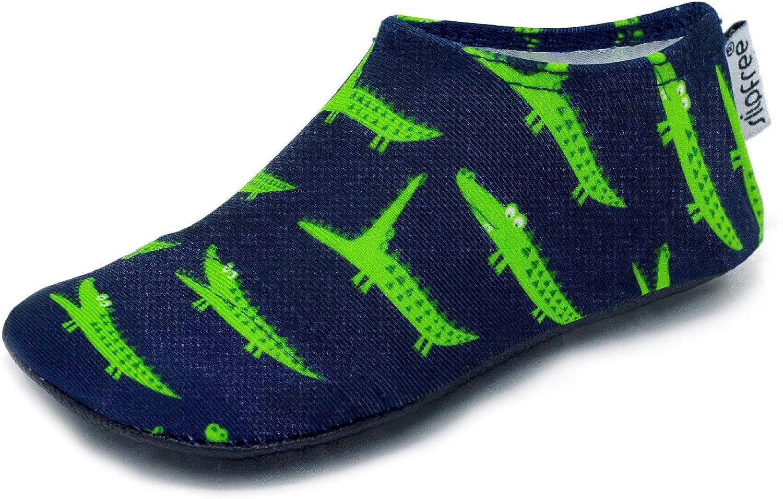 Boys Non-Slip UPF50+ Barefoot Swim Slipfree Gator Water Shoes for Beach Pool and Home Medium