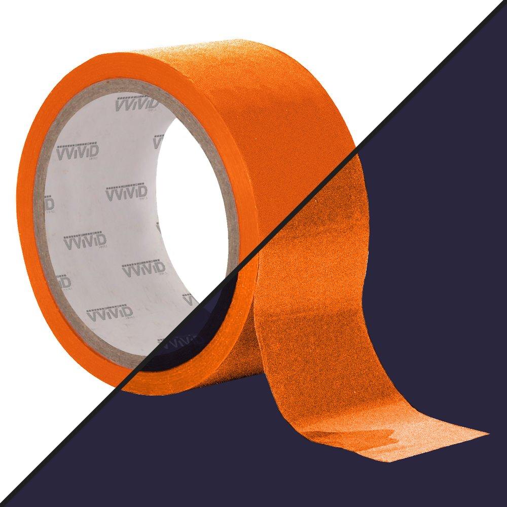 VViViD DECO65 Reflective Orange Permanent Adhesive Craft Vinyl Tape Roll (6' x 25ft)