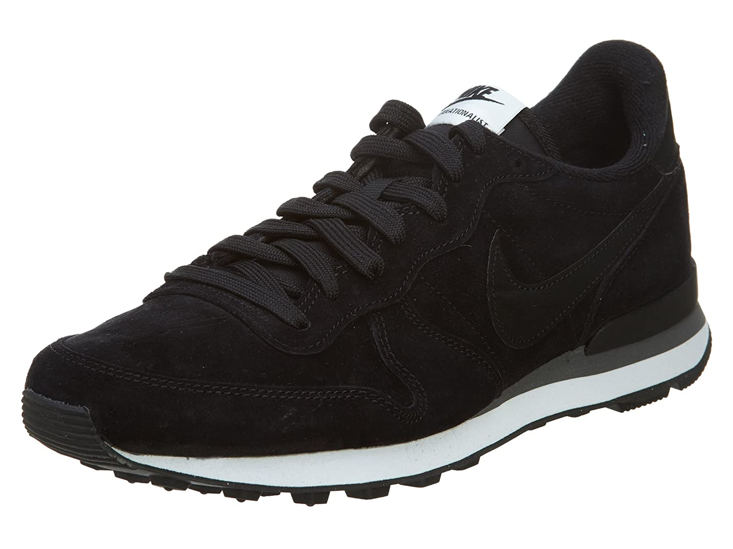 new style 7ff25 0e3c3 Nike Internationalist Leather, Scarpe da Corsa Uomo, Bianco Nero-Grigio  Scuro-White, 48 1 2 EU  Amazon.it  Scarpe e borse