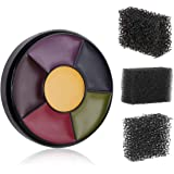Meicoly 6 Color Bruise Wheel for Special Effects, Face Body Oil Paint Theatrical Halloween Makeup with 3pcs Stipple…
