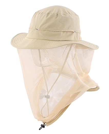 a75545ff Home Prefer Outdoor Anti-Mosquito Boonie Hat with Head Net Mesh Face  Protetion Fishing Sun