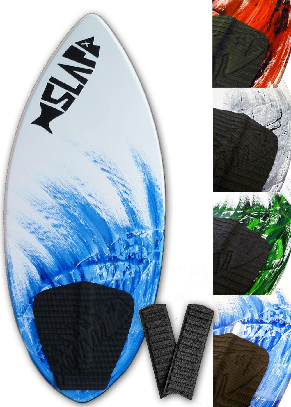 4 Colors 48 with Traction Deck Grip Slapfish Skimboards Fiberglass /& Carbon Riders up to 200 lbs Kids /& Adults