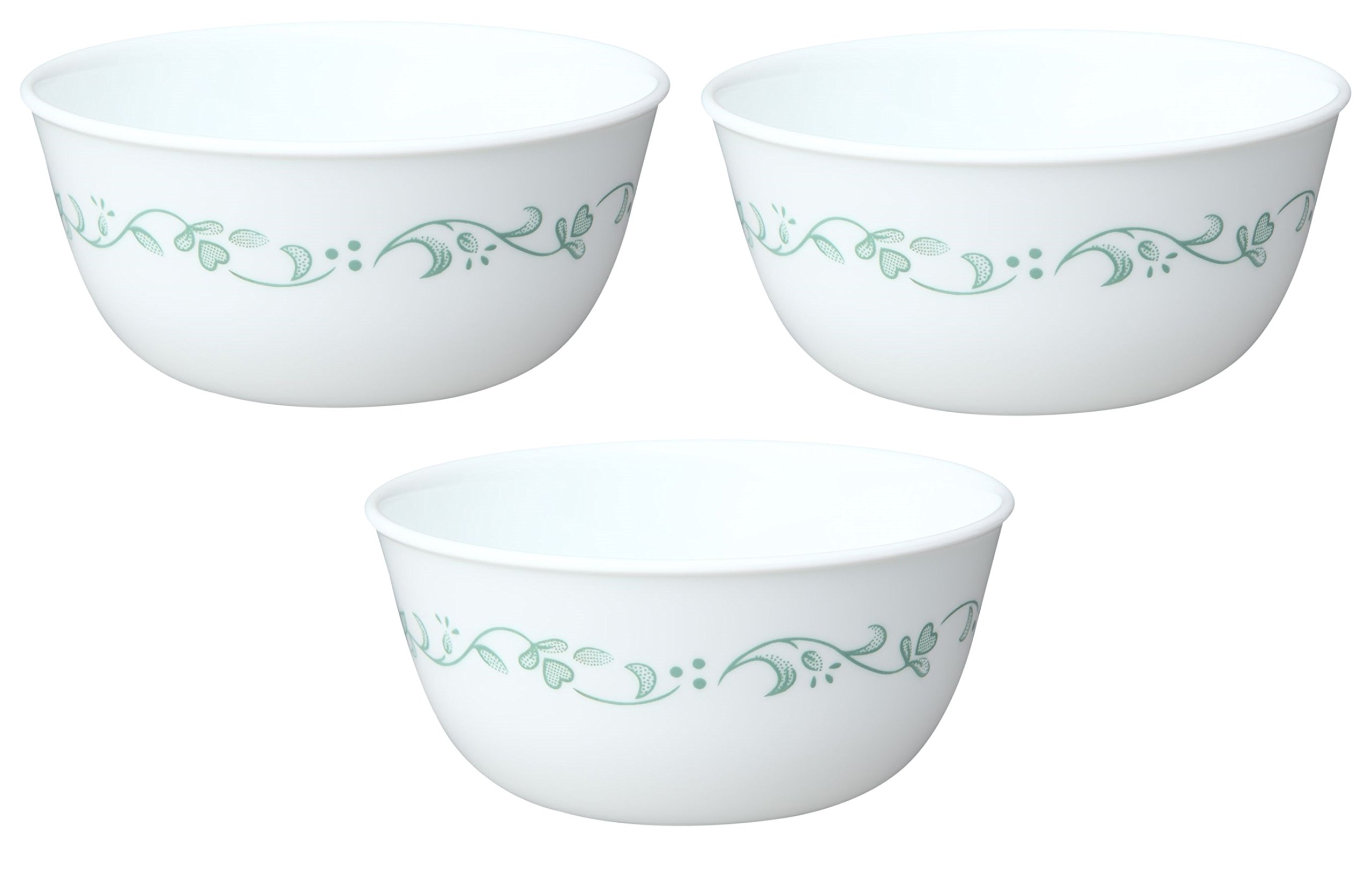 Corelle Livingware Country Cottage 28 Ounce Soup / Cereal Bowl Bowl (Set of 3)