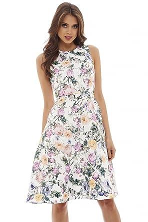 0509e33460 AX Paris Women s Printed Skater Dress at Amazon Women s Clothing store