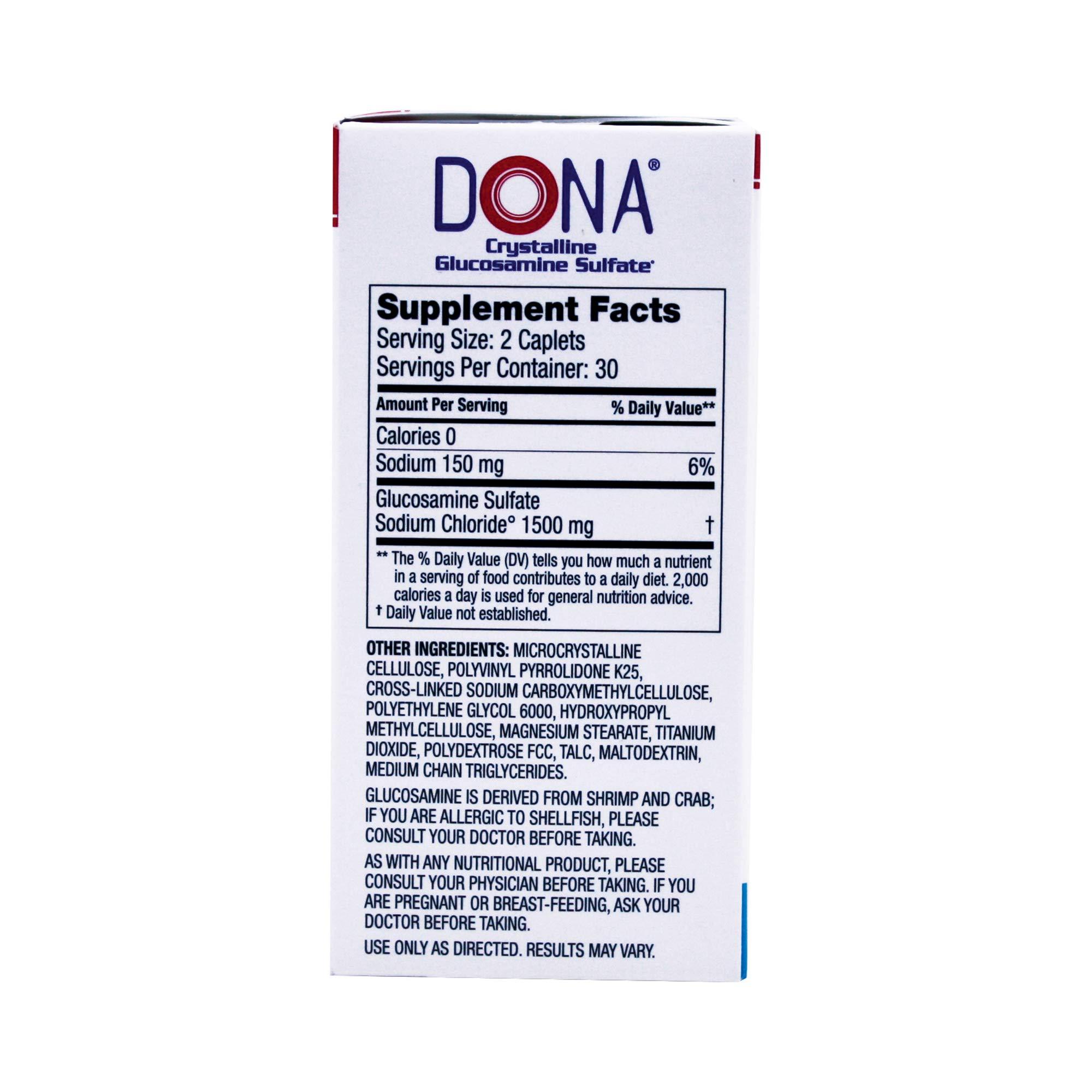 Dona Crystalline Glucosamine Sulfate, 750 Mg, 60 Count by DONA (Image #5)